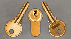 Image de serrure avec deux clés